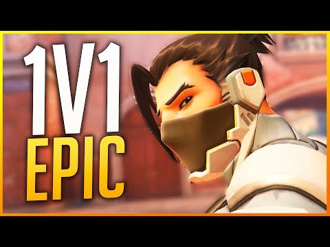 OVERWATCH: 1V1 IMPOSSIBLE SHOT, TRICK WITH MEI AND TRACER BOSS! | Makina