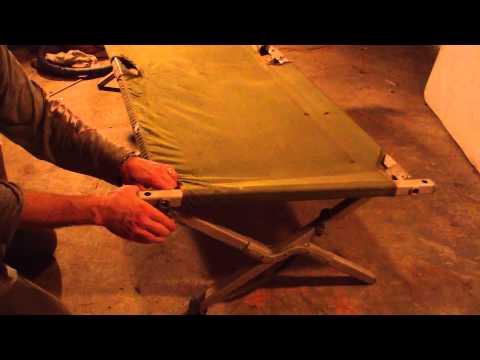 Army Cot Set Up