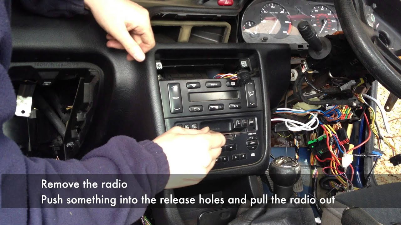 full dashboard removal from a peugeot 406 [ 1280 x 720 Pixel ]