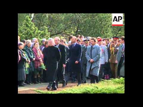GERMANY: DRESDEN: 50TH ANNIVERSARY OF ALLIED BOMBING CEREMONY