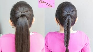 Ponyatil Bow - Hair Bow into a Ponytail/fishtail | Chikas Chic