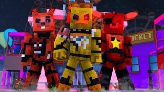 FNAF World Theme Park Nightmare ! - Minecraft FNAF Roleplay