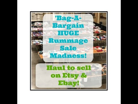 BONKERS Annual Bag-A-Bargain Rummage Sale Haul to Sell on Etsy & Ebay!