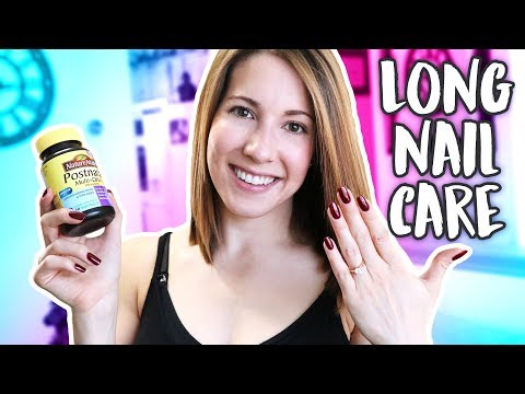How Did My Nails Get SO LONG?! - My Nail Care Routine!