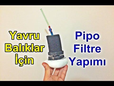 Pipo Filtre Nasıl Yapılır ? Dıy Sponge Filter