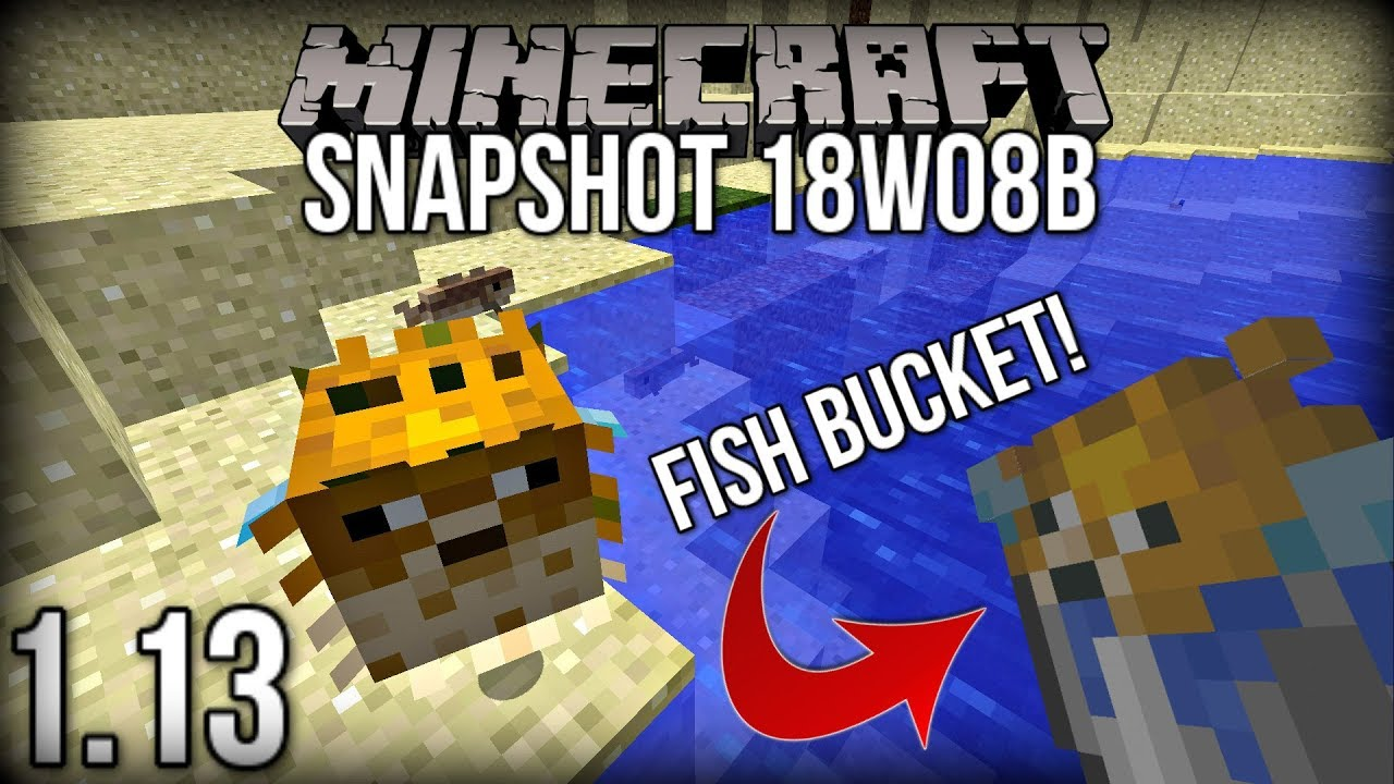 How to make a fish in a bucket in minecraft pe