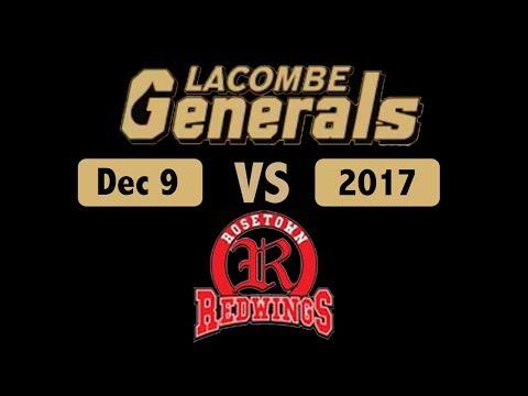 Lacombe Generals Vs Rosetown Redwings Dec 9