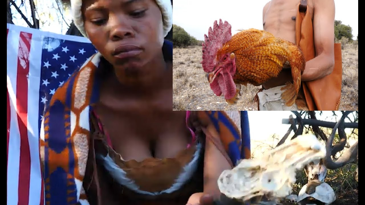Cooking Wild Chicken On Open Fire Catch and Cook Africa Bushcraft Village Cooking