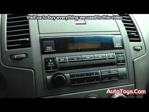 Nissan Altima Pioneer Double Din Radio Installation By AutoToys Com (FHX820BS)