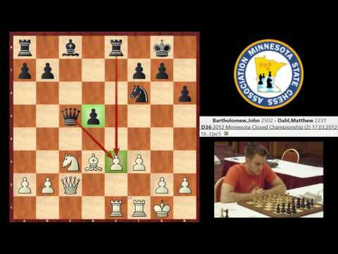 IM John Bartholomew vs. NM Matthew Dahl (Queen's Gambit Declined)