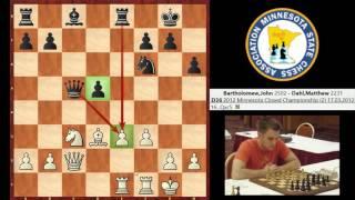IM John Bartholomew vs. NM Matthew Dahl (Queen's Gambit Declined)