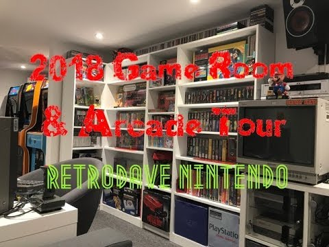 Retro Games & Arcade Room Tour 2018 - Man Cave (Part 2) RETR
