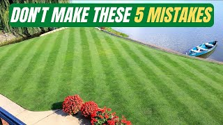 Don't make these 5 MISṪAKES in your LAWN this FALL!
