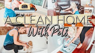 EXTREME CLEAN WITH ME 2019|KEEPING A CLEAN HOME WITH PETS|CLEANING ROUTINE||HOW TO REDUCE PET ODOR