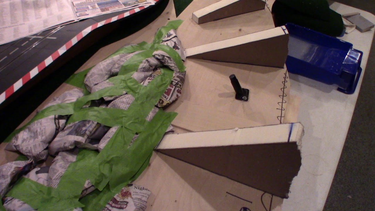 Slot Car Track Scenery - Terra-forming - Part 3 of many