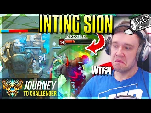 NEW INTING SION  = BROKEN, TILTING & STUPID!!!!! - Journey To Challenger | League of Legends thumbnail