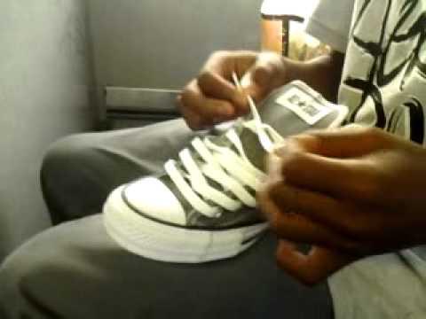 bb08e5d24e41 How to lace chuck Taylor s like wiz khalifa - YouTube