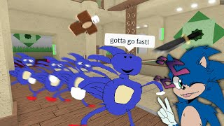 Trolling With Sonic in Murder Mystery 2
