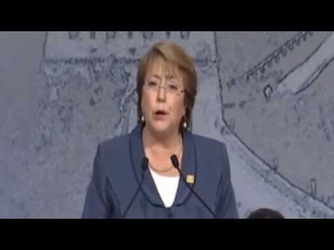 Michelle Bachelet, President of Chile at the APEC CEO Summit