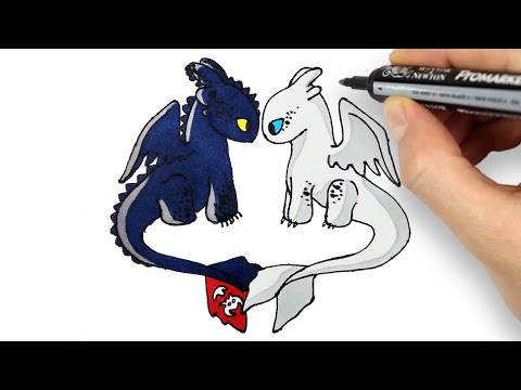 Download How To Draw Light Fury From How To Train Your Dragon