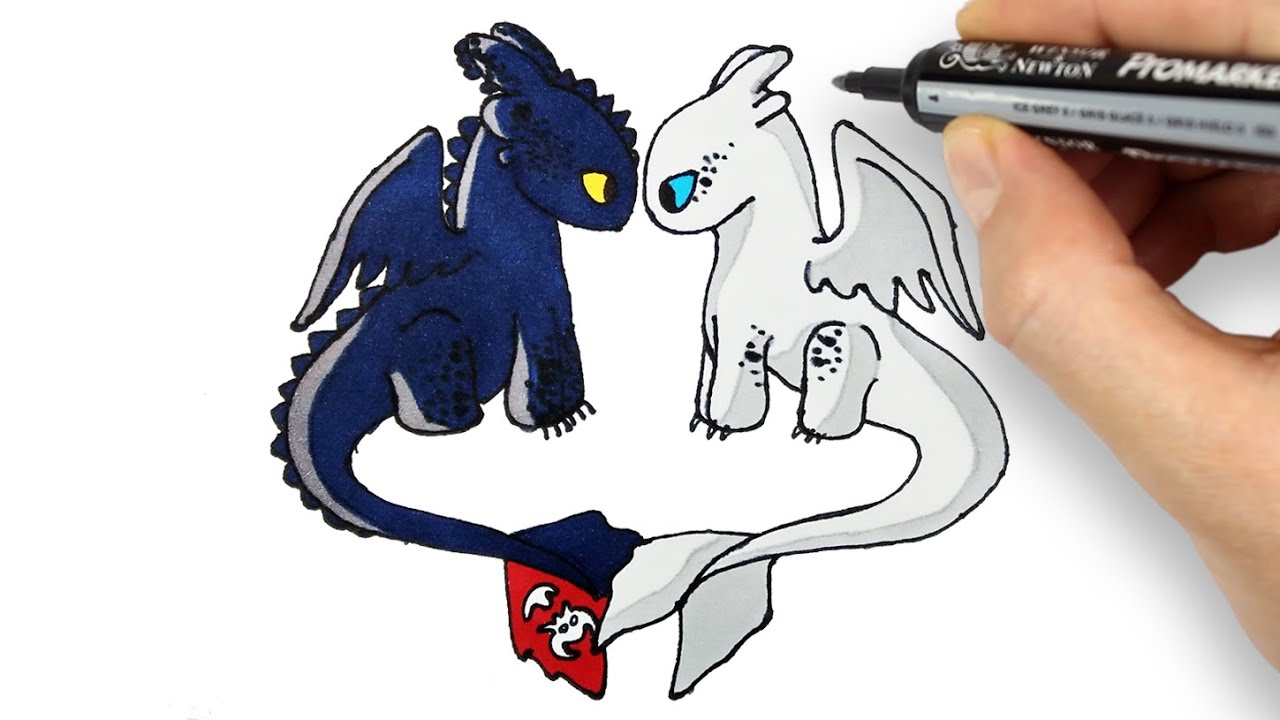 Toothless And Light Fury Drawing And Coloring Dissiz Ve Isigin