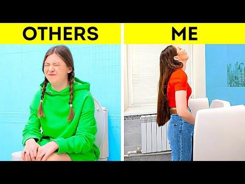 OTHER GIRLS vs SMART ME | Restroom Hacks To Save Your Life