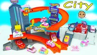 Cutie Cars + Disney Car Lightning Mcqueen Race Around Hot Wheels City Track