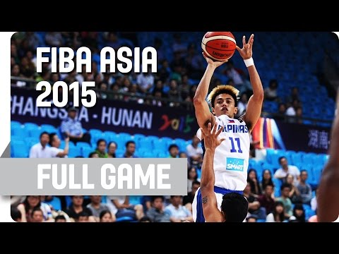 Philippines v India - Group E - Full Game - 2015 FIBA Asia Championship