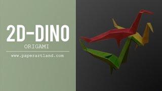 Origami Tutorial: 2d Dinosaur