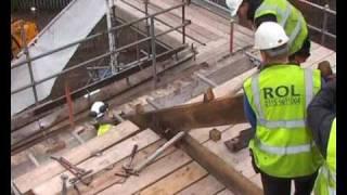 Lion Salt Works - Enabling Works - Dismantling Roof Trusses