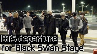 BTS(방탄소년단), Departure to LA for 'Black Swan' performance