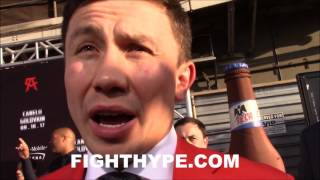 FIRED UP GOLOVKIN DESCRIBES