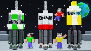 We BUILT ROCKETS And Went To SPACE In MINECRAFT! (Insane)