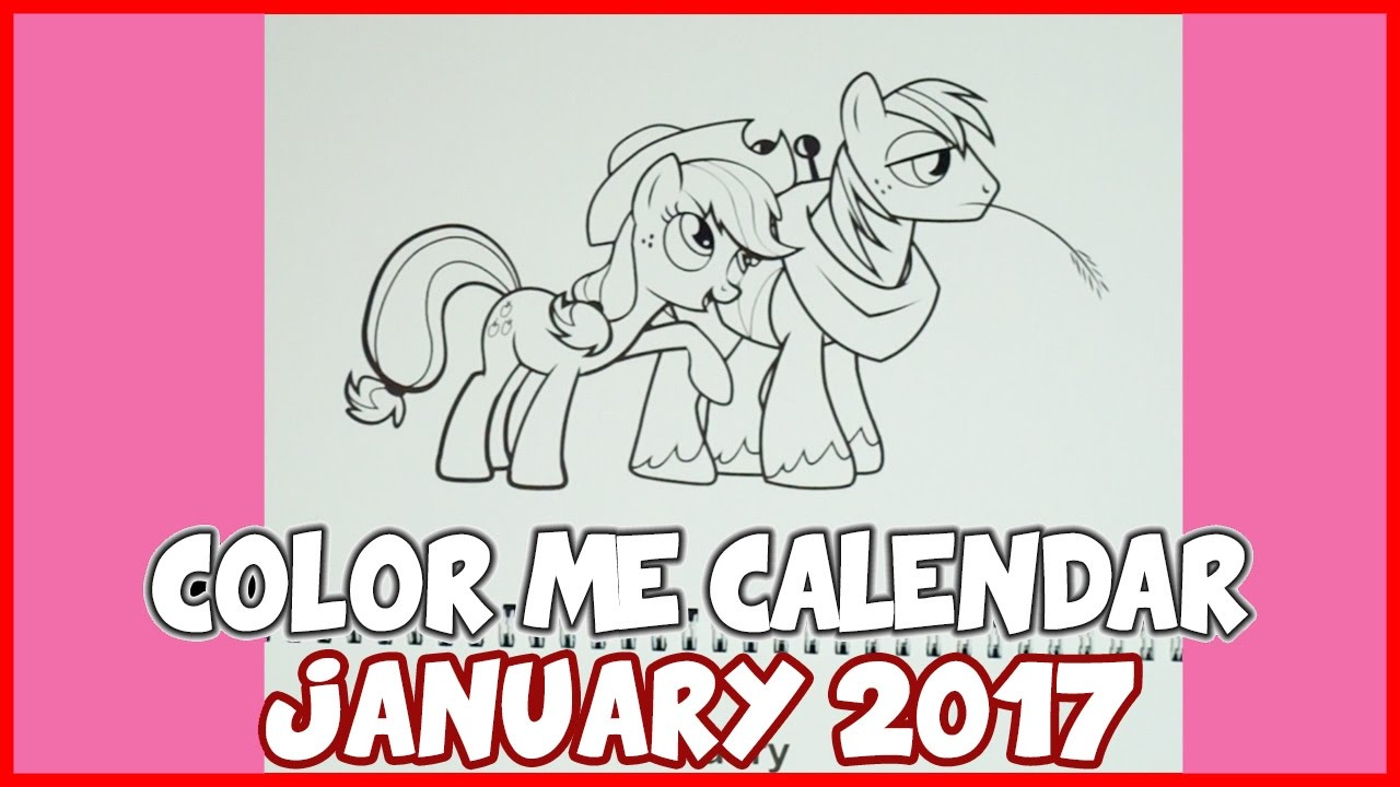 January 2017 - Color Me Calendar - Created by TheCrazyPonyLady - YouTube
