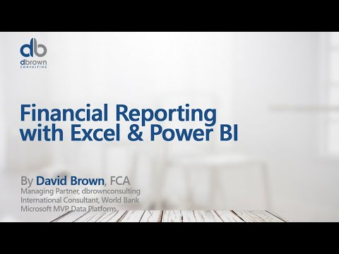 Webinar: Financial Reporting with Excel & Power BI