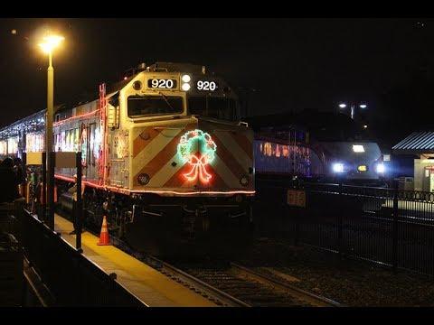 [HD] Railfanning Santa Clara featuring CalTrain's 2017 Holiday Train (12/02/17)