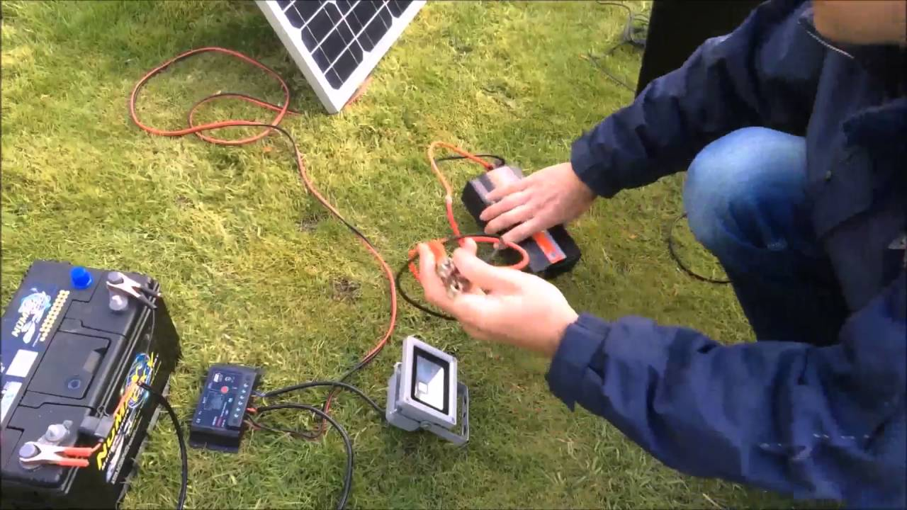 how to set up a solar panel regulator battery and inverter free 240v electricity part 2 youtube [ 1280 x 720 Pixel ]