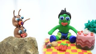Green Baby and NEWBORN ANT LIFE - Stop Motion Cartoons For Kids