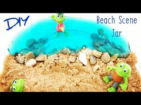 Mason Jar Crafts Decor, Summer Crafts for Kids, Mason Jar DIY Ideas with  Fake Water | Beach Decor