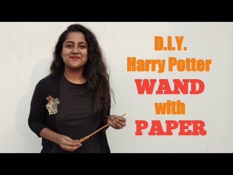 HARRY POTTER WAND with PAPER: How to make! | D.I.Y. Craft Tutorial | Nimisha Raizada