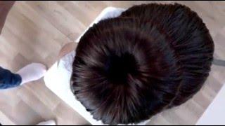Dutt mit Duttkissen für Kinder; bun with bunmaker for kids by Toddler Hairstyles