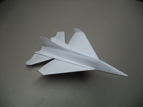 How to Fold an Origami F-16 Paper Plane | OLD TUTORIAL