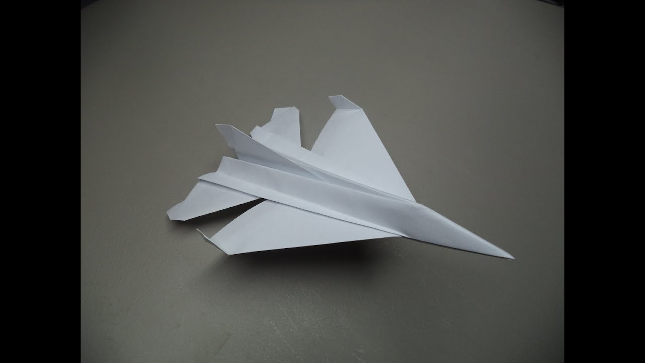 how to fold an origami f16 paper plane old tutorial