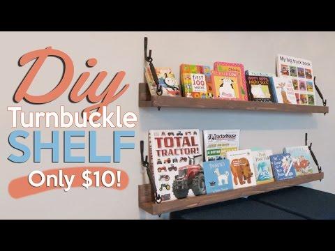 $10 DIY Turnbuckle Shelf | Shanty2Chic