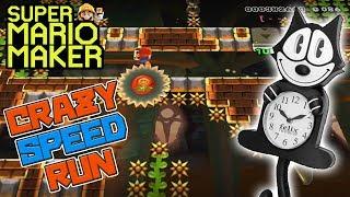 CRAZY SPEED RUN! - Super Mario Maker - Super Expert with Oshikorosu.