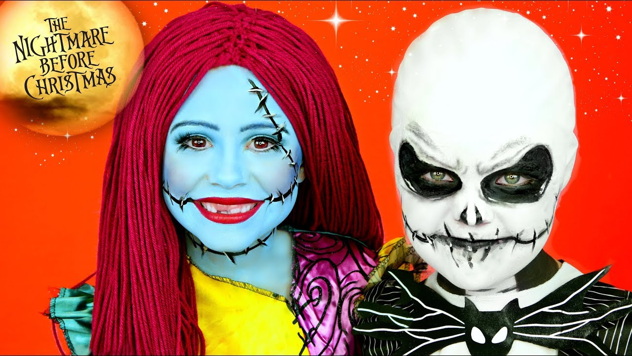 Nightmare Before Christmas Jack and Sally Makeup and Costumes