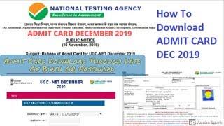 NTA UGC NET ADMIT CARD 2019 DOWNLOAD | ugc net admit card .  Direct admit card download link--