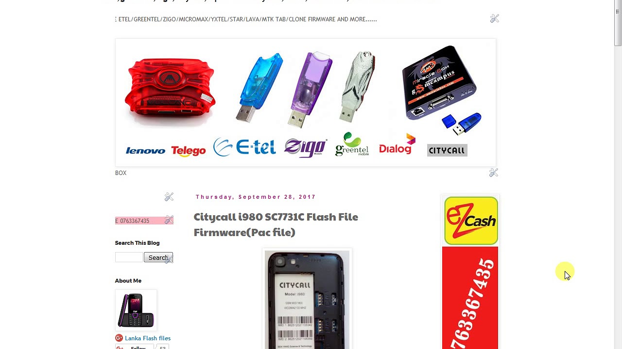 Citycall i980 SC7731C Flash File FirmwarePac file - YouTube