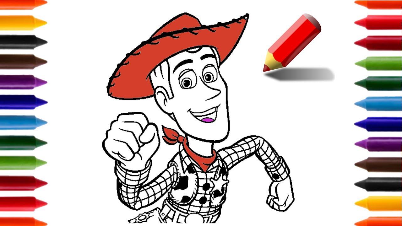 Como Desenhar E Pintar O Woody Toy Story Animacoes E Desenhos