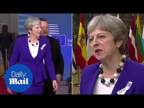 Theresa May describes 'pattern of Russian aggression' from Brussels - Daily Mail